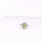 Green Cats eye Sapphire Ring