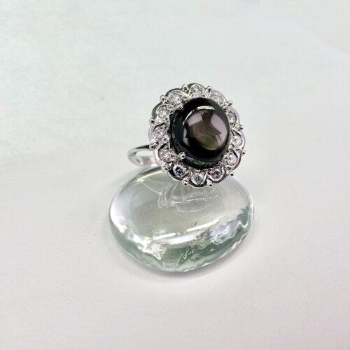 Diamonds/Star Sapphire Ring
