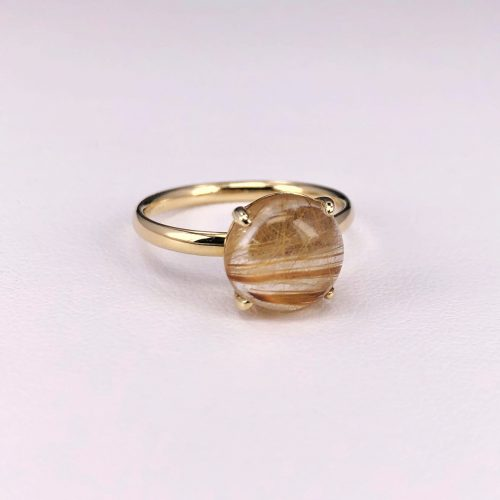 Round Rutilated Quarts Ring
