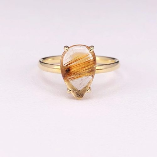 Rutilated Quarts/Pear Shape Ring