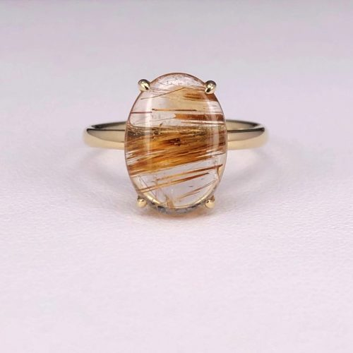 Oval Rutilated Quarts Ring