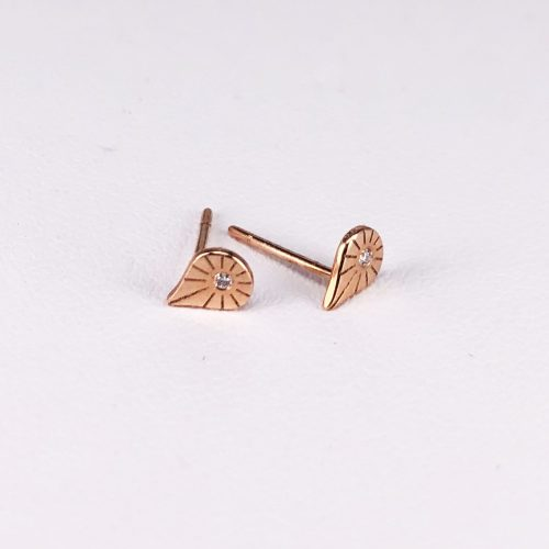 14ct Rose Gold and Diamond Earrings
