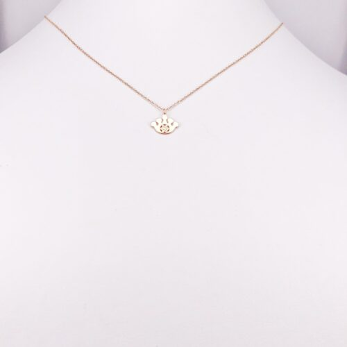 14ct Rose Gold Crown Pendant with Chain