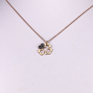 14ct Rose Gold Four Leaf Clover Pendant with Chain
