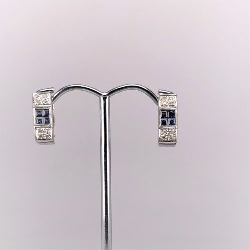 18ct White Gold Huggie Earrings