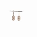 18ct Rose Gold Earrings with Sheppard Hook