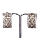 18ct White Gold Earrings with Pin and Clip on