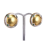 18ct Yellow and White Gold Earrings with Pin and Clip on