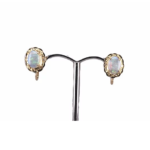 18ct Yellow Gold and Opal Earrings with Screw on Hook
