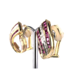 18ct Yellow Gold Earrings with Pin and Clip on